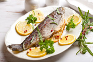 baked-trout-on-plate